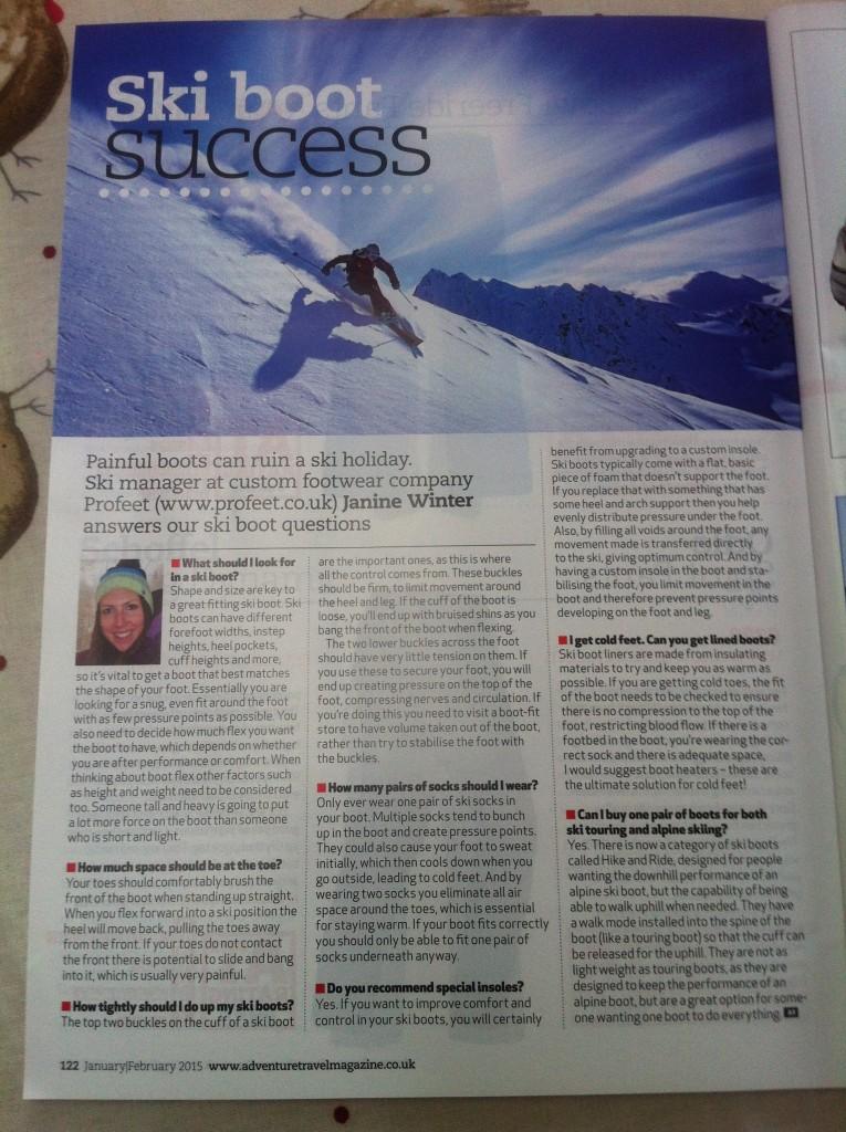 Profeet Featured In Adventure Travel Magazine