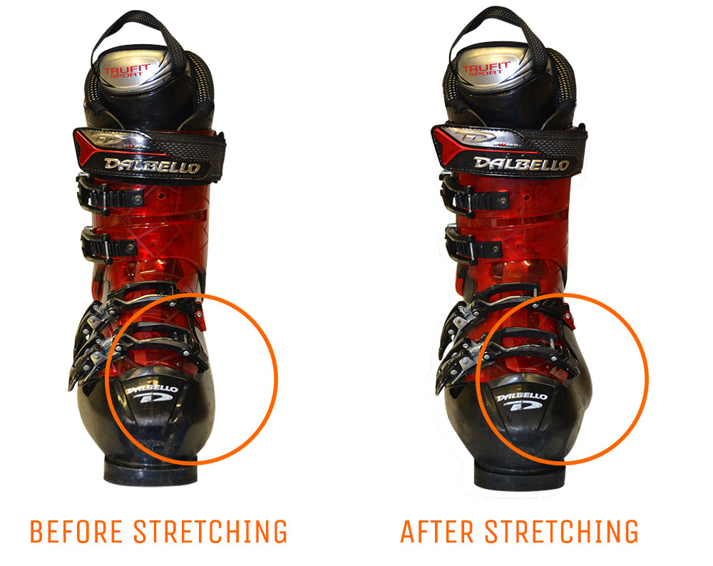 ski boot stretching