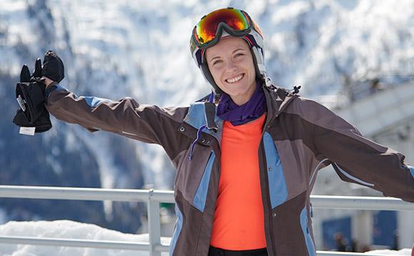 Marthe Skiing