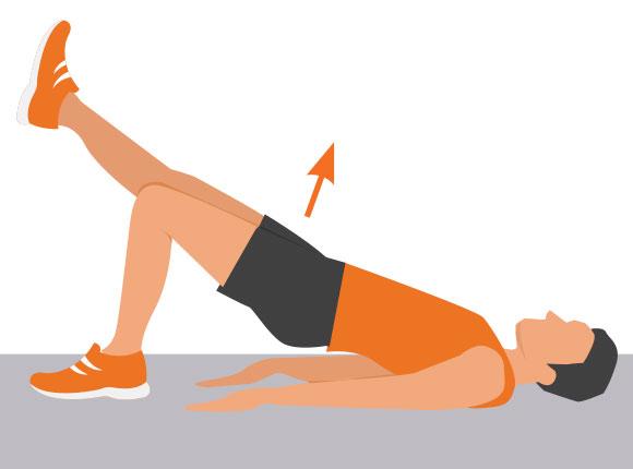 Ski fitness: Leg Bridge