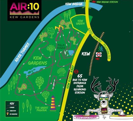Air Run 10K Kew map