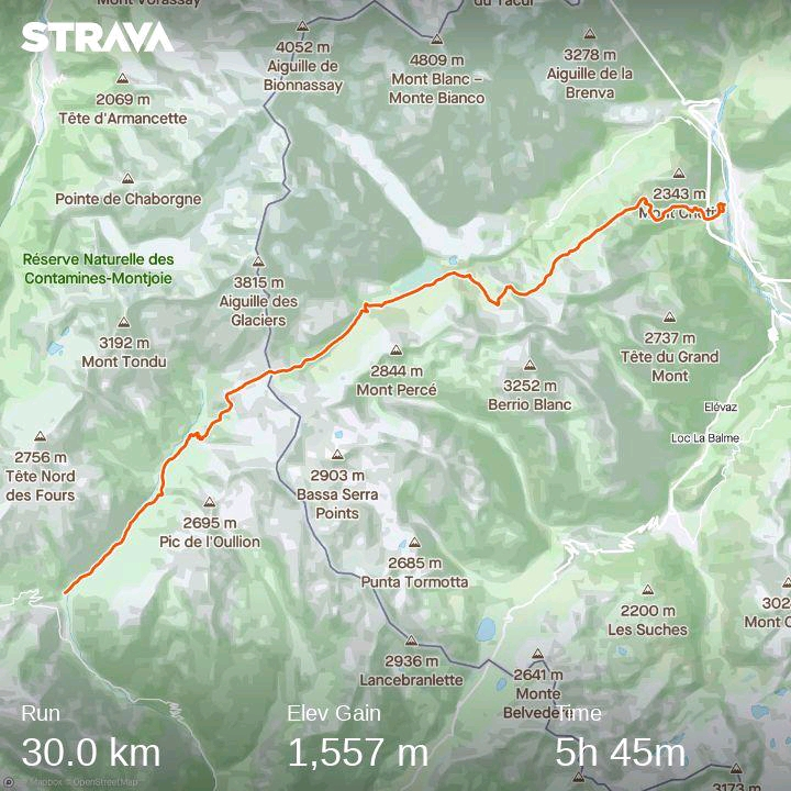 UTMB trail map 2